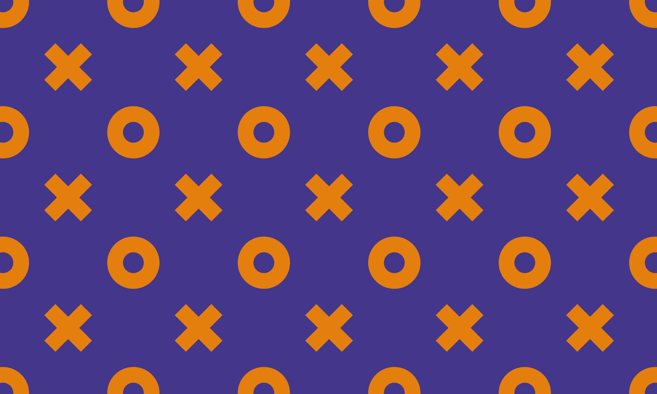 Naughts and crosses pattern