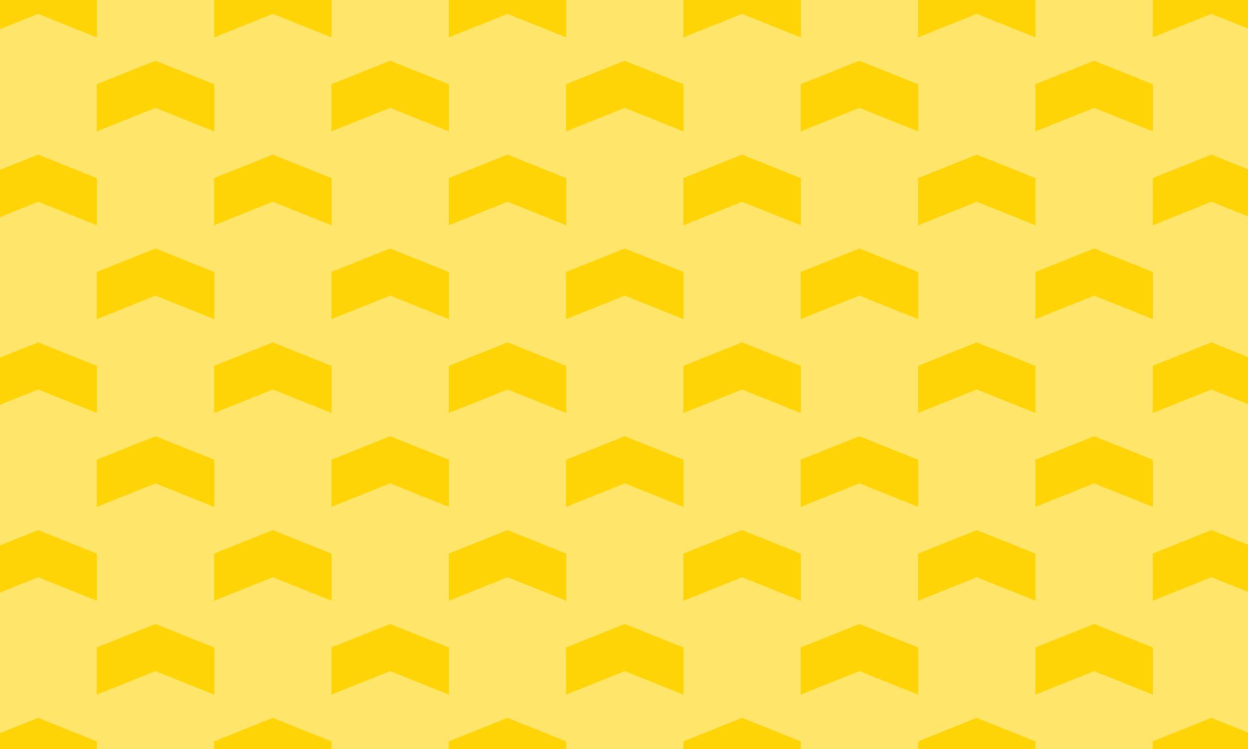 Yellow arrow pattern