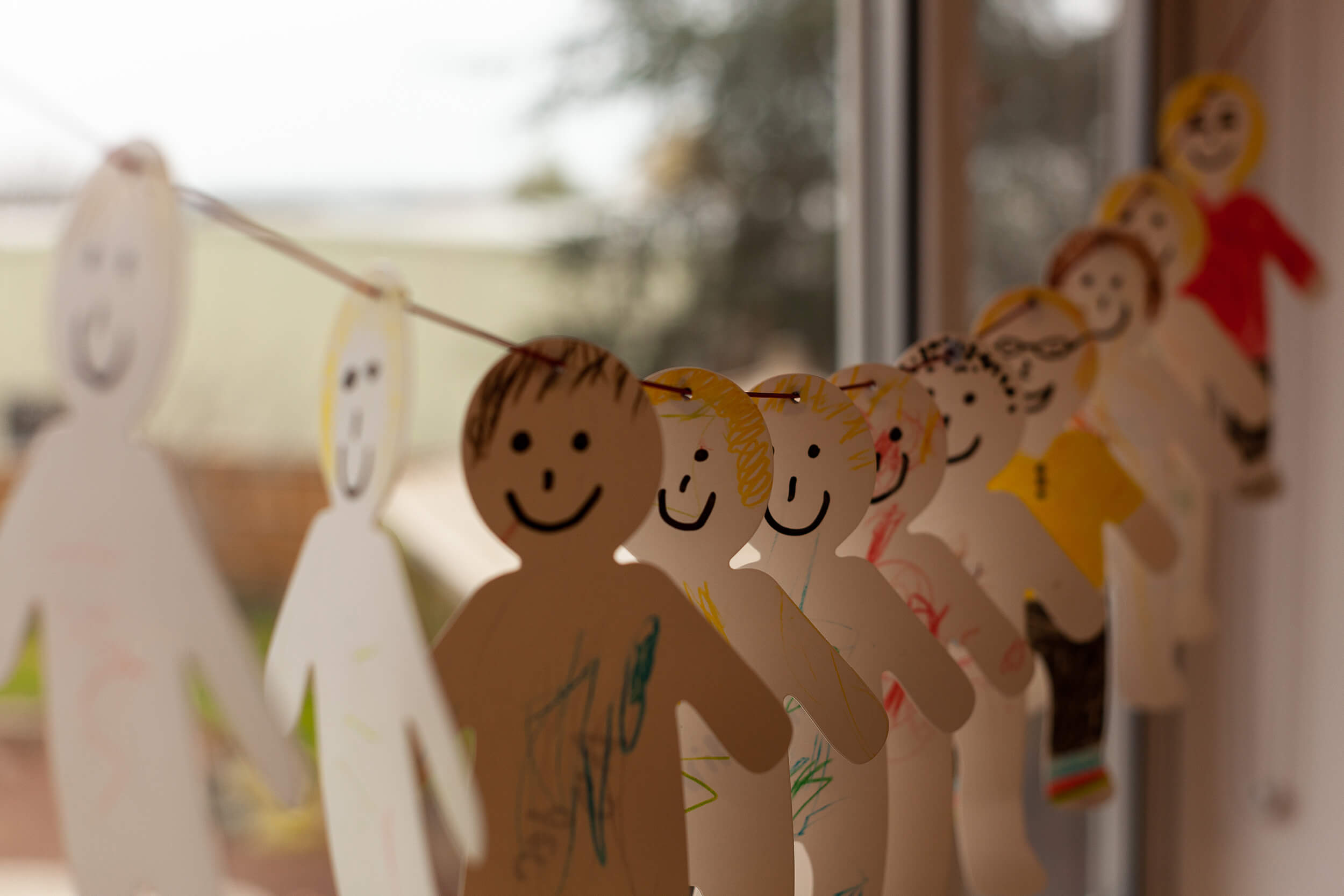 Paper chain people
