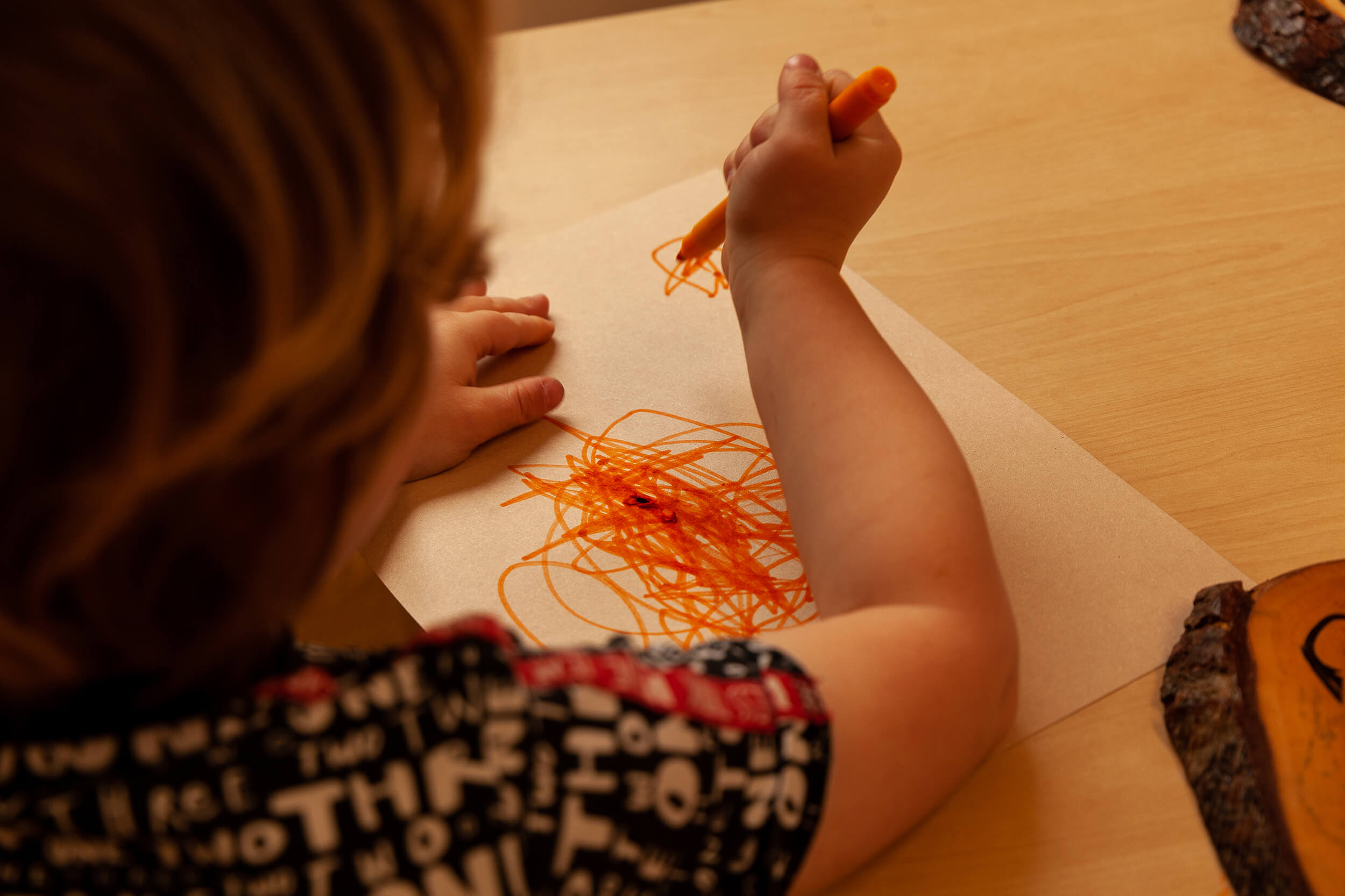 Drawing with a felt tip pen