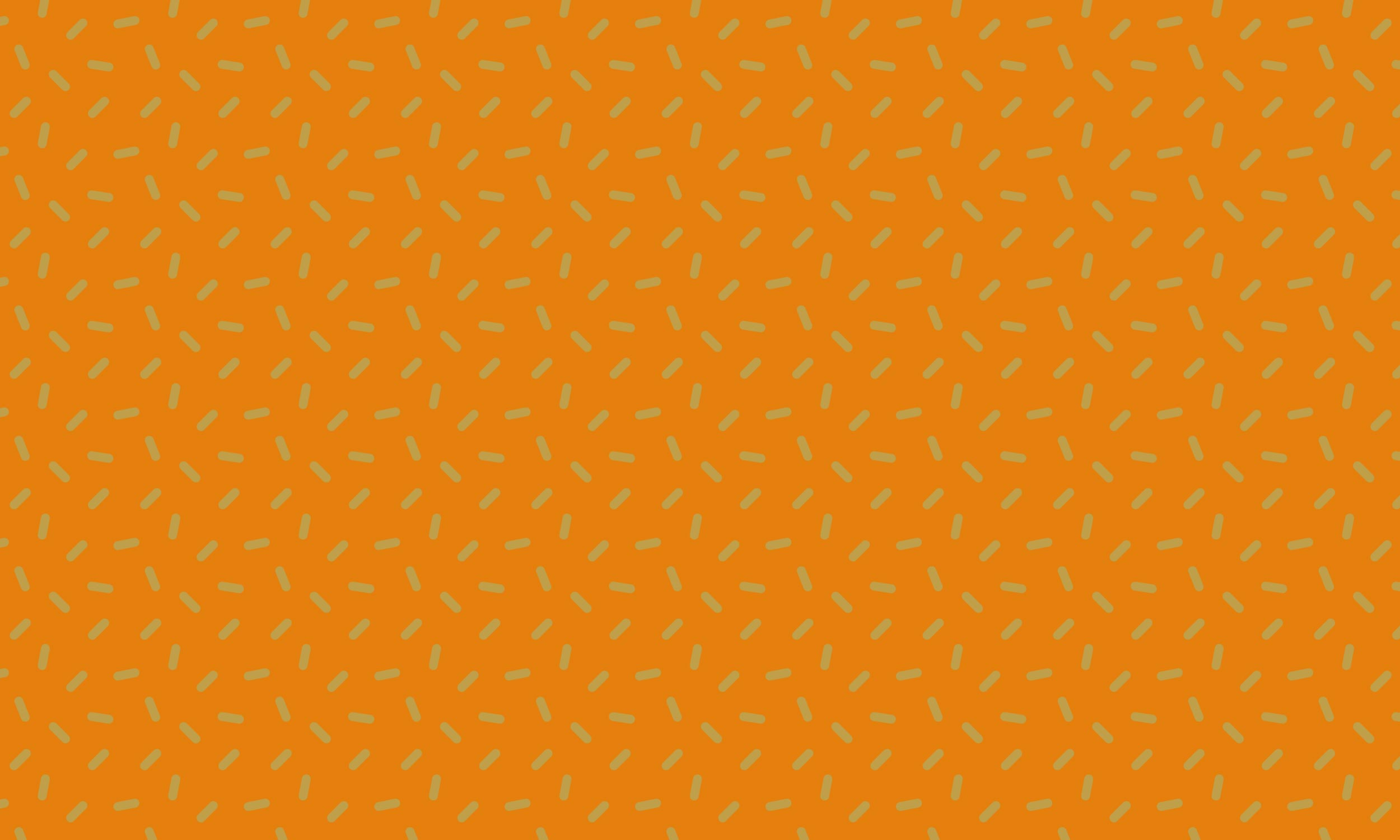 Orange one hundreds and thousands pattern