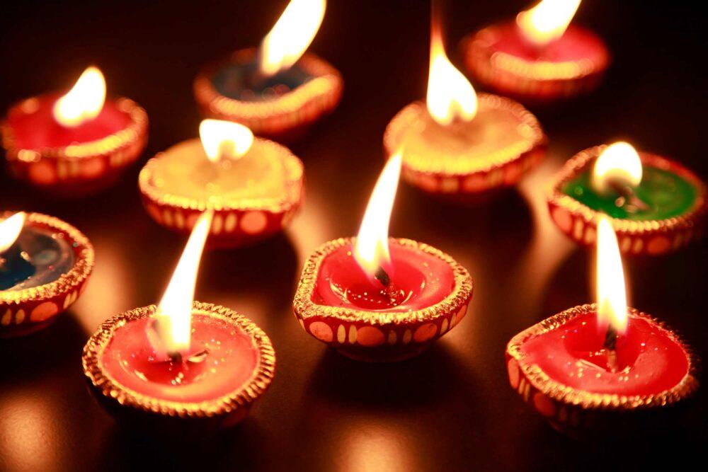 Diwali festival candles