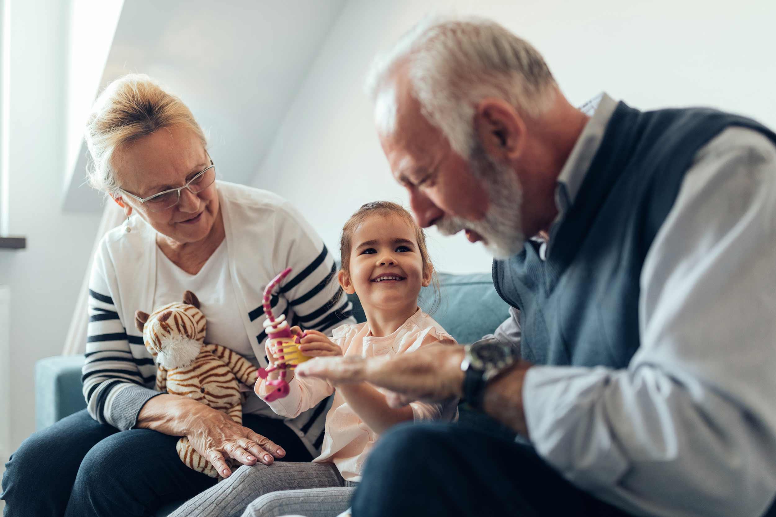 Grandparents and kid
