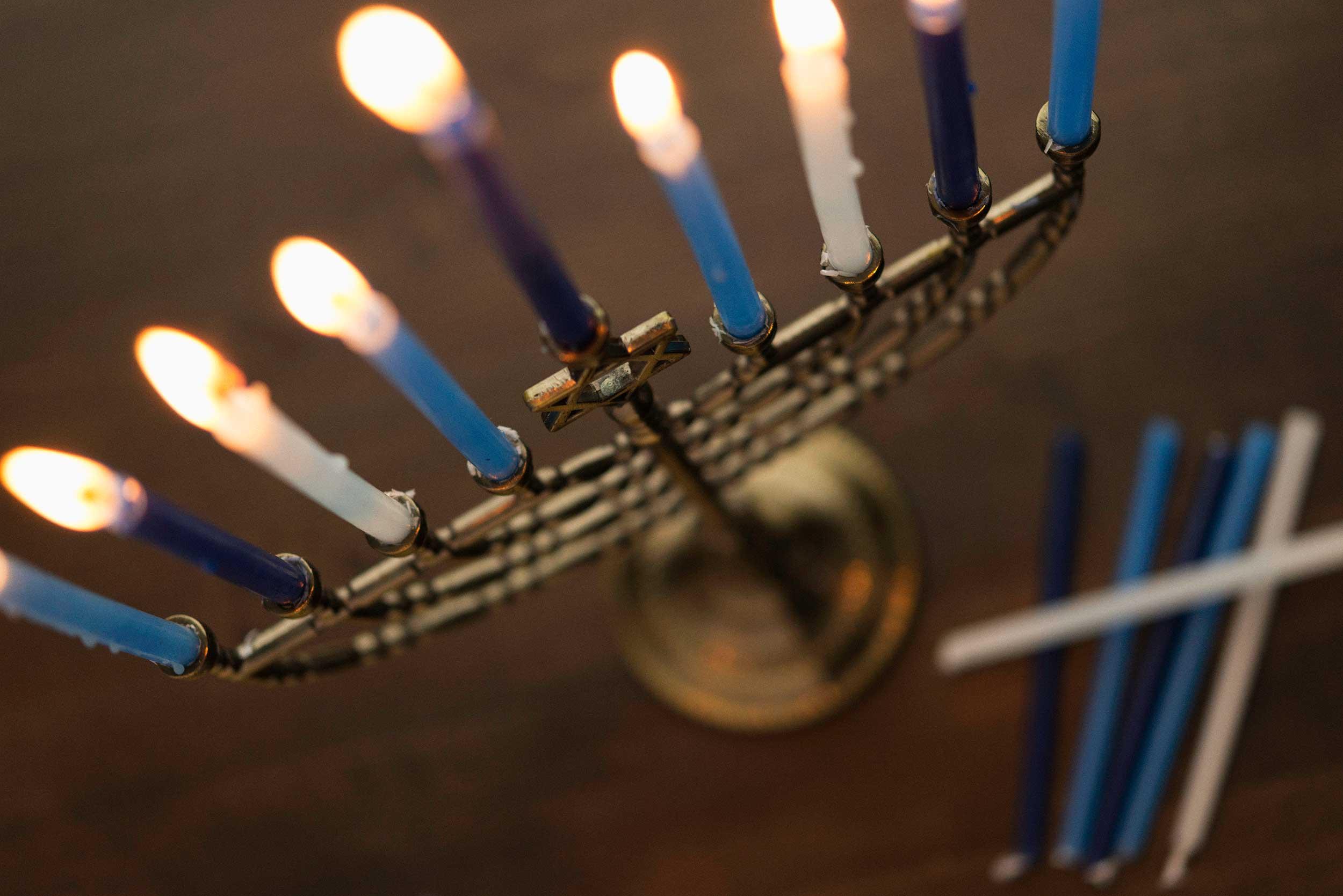 Hannukah candles