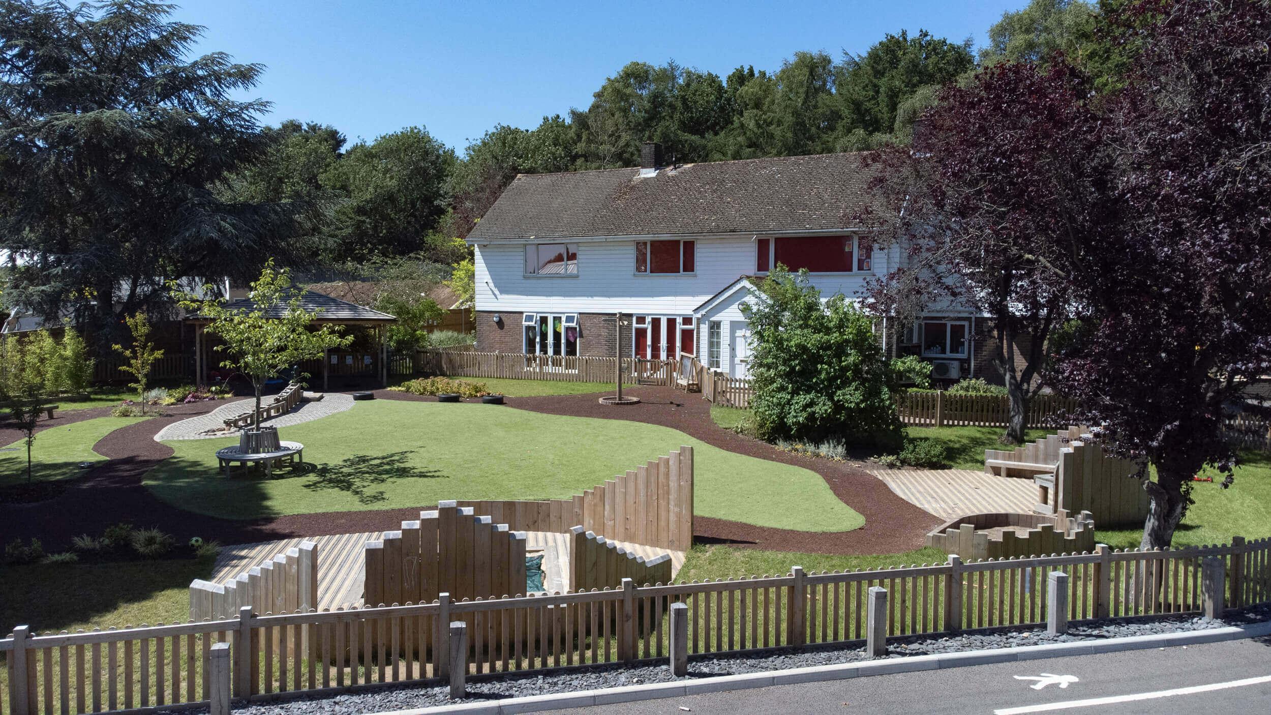 Nursery House Aerial Shot